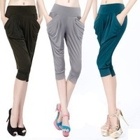 Summer casual all-match candy color fashion viscose harem pants women