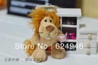 Hot selling  High quality !!!Genuine lion keychain 10cm print