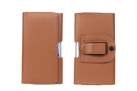 Special Brown Color PU Leather Pouch phone bags cases with Belt Clip for fly iq446 Cell Phone Accessories