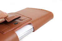 Special Brown Color PU Leather Pouch phone bags cases with Belt Clip for nokia lumia 820 Cell Phone Accessories