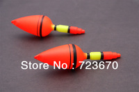 Free shipping plastic Fishing Float red-yellow  12.5cm 10pcs/lot