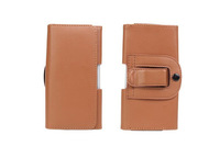 Special Brown Color PU Leather Pouch phone bags cases with Belt Clip for huawei ascend p2 Cell Phone Accessories