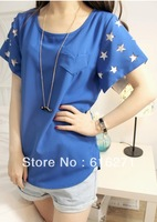 Bargain sale stars feedback sleeves chiffon unlined upper garment   Free shipping   C188