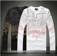 Free shipping Famous brand  Cotton clothes New Men 's clothes T-shirt Long sleeve JP108/6201