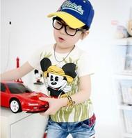 Free shipping! mickey mouse t shirt girl summer boy's cartoon tshirt cute t-shirts girl's tee tops 2013