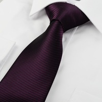 201New Mens Slim Skinny Solid Color Plain Satin Tie Necktie purple Tie024 Freeshipping