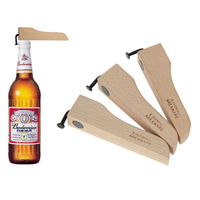 Beech simple bottle opener nail eco-friendly wood bottle decapper belt magnet single