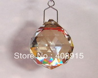 Free shipping, Hanging Crystal Drop Ball, Cognac 40mm crystal ornament for crystal garland, Wedding/ Christmas decor 10pcs/ lot