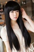 Wig female long roll bulkness repair qi bangs pear stubbiness female long kinkiness jiafa