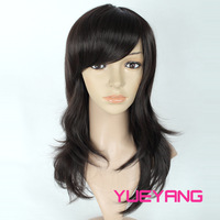 Wig bangs oblique fluffy long curly hair fashion wig girls
