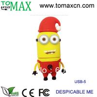Free shipping   Guaranteed Despicable me USB pendrive  Minions usb stick 50pcs/lot   2G 4G 8G 16G