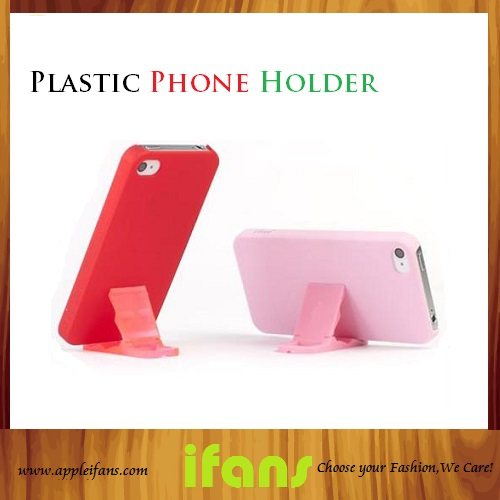 Wholesale Compact Plastic Stand ,Universal Stand Holder For iPhone 4S/5 And iPod iPad ,10Pcs/Lot(Hong Kong)