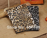 NEW arrive   Leopard grain  fashion PU stand leather case COVER for Apple IPAD air  5 gen