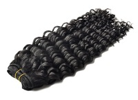 Wholesale Beauty Cheap Brazilian Curly Virgin Hair,Black, 1pcs/lot Free Shipping
