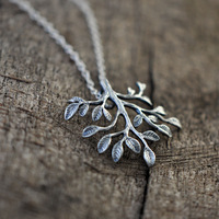 Pure Silver Pendants Necklace With Chisel Carved Tree Christmas Gifts Handmade New 2014 Fashion Vintage Jewelry Accessories