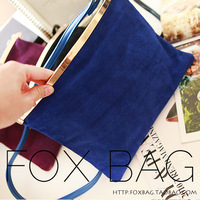 2013 women's nubuck leather gem blue shoulder bag messenger bag handbag women's small bag