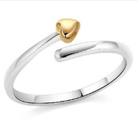 Romantic Wedding Band 925 Silver Heart Arrow Ring Adjustable High Quality Bridal Jewelry