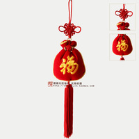 """""""Fu"""" lucky bag handmade Chinese knot lucky festive hangings interspersion hot-selling free shipping,car hangings-ZJ-021"""