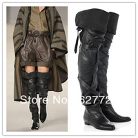 Ladies Over The Knee Fashion Leather Boots,Hot Sell Thigh High Boots,Winter Long Boots