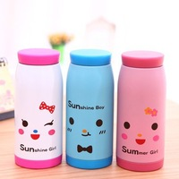2014 Cute cartoon pot-bellied stainless steel vacuum cup (350 ml) expression design free shipping