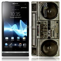 Radio Pattern Plastic Case for Sony Xperia S LT26i