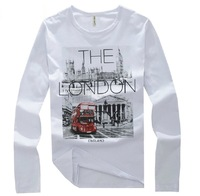 2013 Autumn Male T-shirt Long-Sleeve For Men Slim Basic T Shirt Plus Size Men's Clothing Fashion Tee Hot Sale