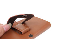 Special Brown Color PU Leather Pouch phone bags cases with Belt Clip for star x920 Cell Phone Accessories