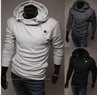 Men's New fashion zipper casual hoodies slim  coat  Size M/L/XL/XXL