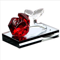 Crystal rose perfume car decoration gift auto upholstery supplies quality car decoration
