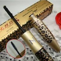 2013 HOT 10pcs/lot Lengthening Curving 300% Eyelash Extension Mascara Leopard Print Mascara Set Transplanting Gel with Fiber