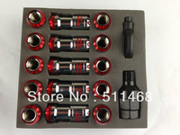 VOLK RAYS FORMULA WHEELS LOCK LUG NUTS 12X1.5  ACORN RIM CLOSE END RED