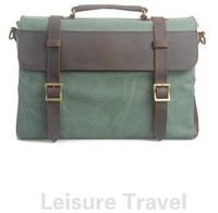 2014 New Men Canvas Handbags Vintage Briefcase Solid color Shoulder Bags
