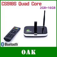Free Shipping - New CS918S Quad Core Android TV Box 2GB DDR3+16GB Built-in 5MP Camera/ Bluetooth Support CDMA / WCDMA XBMC