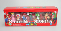 Hot toys Super Mario Nintendo toys for boys gifts Figurines Series 3 nintendo figures 6pcs.set Free shipping
