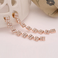Exquisite rhinestone all-match sparkling long design claw chain stud earring earrings female accessories birthday gift