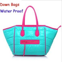 Free shipping winter bags women Down bags water proof, smile face bags for women 2013,women shoulder bags totes.Same as pictures