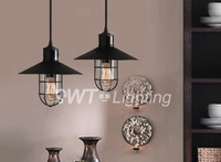 2013 hot selling wholesale Lamp loft american vintage single-head wrought iron birdcage pendant light free shipping near Asia