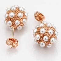 Min. order is $10(mix) brand fashion imitate pearl earrings 2013 new jewelry wholesale earring for women High Quality