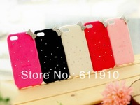 10pcs/lot New Glitter 3D Cute Bow Furry Kitty Case TPU Back Skin for Apple iPhone 5C Wholesale and Retail+Free Shipping