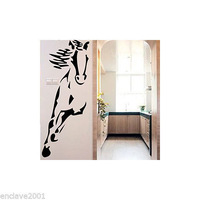 (Various Color) Running Horse Decor Mural Art Wall Sticker Decal WY1123