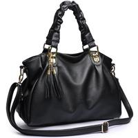Dorpshipping 2013 new women high quality PU leather handbags messenger bag fashion handbags designers brand tassel bag