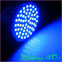 9 Pcs/lot GU10 4W 400LM Blue Light 60 SMD 3528 LED Spot Down Light Bulb Lamp 220V-240V LED0278