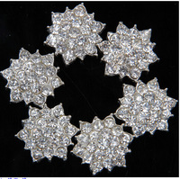 NEW 50pcs/lot 17mm Clear Alloy Metal Buttons Spark Rhinestone Buttons Decoration Accessory for DIY flowers