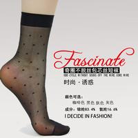 8244 dot crystal stockings Core-spun Yarn sock fashion charm female transparent ultra-thin
