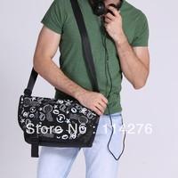 2014 new trendy black and white print men's shoulder bag fashion crossbody bag men messenger bags, TSB601