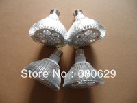 wholesale 12/lot E27/B22 par30 led spotlight dimmable/non-dimmable 5/7*1w ceiling light bulb lamps 550/770lm DHL free shipping
