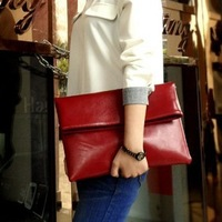 New 2014 Vintage Designers Brand Large Women Clutch Genuine Leather Women Handbag Envelop Bags Shoulder Bags Women Messenger Bag