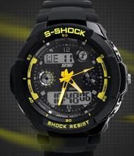 novo choque dupla afixação esportes impermeável relógio eletrônico g led relógios moda exército suíço relógios militares dos homens frete grátis(China (Mainland))