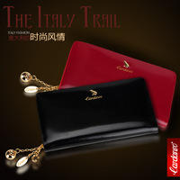 Free shipping European and American fashion female long section of zipper leather wallet wallet women handbags