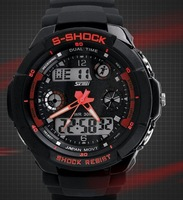 Free Shipping Student Digital Sports Watch Waterproof 30m Male Silicone Strap Military Reloj Black Kid Dive Led Wristwatch Gift